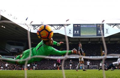 during the Premier League match between Tottenham Hotspur and West Bromwich Albion at White Hart Lane on January 14, 2017 in London, England.