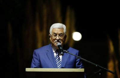 Palestinian president Mahmud Abbas delivers a speech during the inauguration ceremony of late Palestinian leader Yasser Arafat's Museum in the West Bank city of Ramallah on November 9, 2016. The Yasser Arafat Museum opened in Ramallah, shedding light on the long-time Palestinian leader's life and offering a glimpse of history -- along with a number of his trademark black-and-white keffiyehs.   / AFP / ABBAS MOMANI        (Photo credit should read ABBAS MOMANI/AFP/Getty Images)