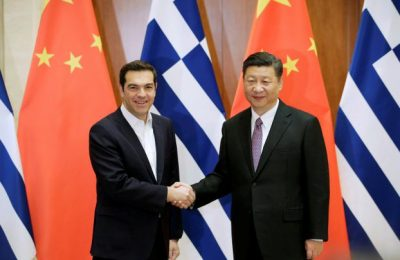 REFILE - UPDATING SLUGGreek Prime Minister Alexis Tsipras meets Chinese President Xi Jinping ahead of the Belt and Road Forum in Beijing, China May 13, 2017. REUTERS/Jason Lee